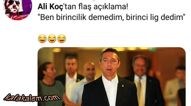 En Komik Ali Koç Fenerbahçe Taraftar Tweetleri