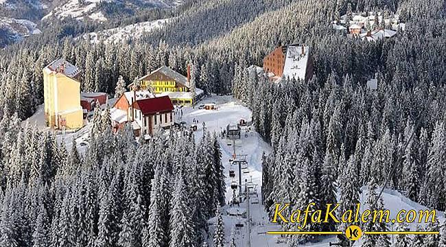 Kayak Merkezi İşletmecilerinin Beklediği Kar Geldi