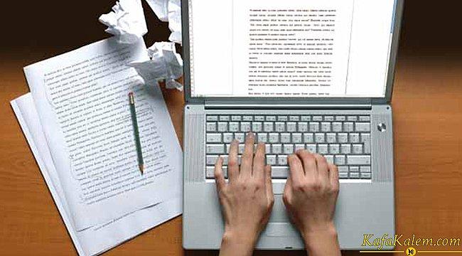 Yazar olmak isteyenlere madde madde önemli tavsiye ve bilgiler